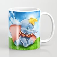dumbo Mugs featuring Dumbo by DisPrints