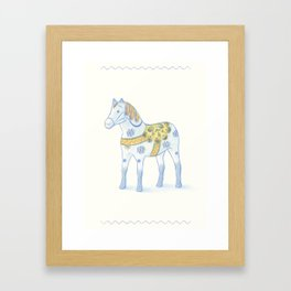 Memories of a wooden horse Framed Art Print