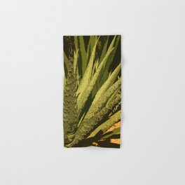 Aloe Vera Leafes Abstract Hand & Bath Towel