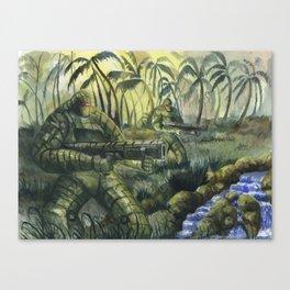 Jungle Patrol Canvas Print