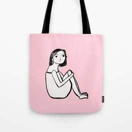 Resting in pink Tote Bag