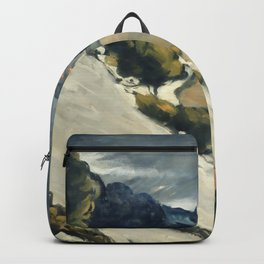 """Paul Cezanne """"Melting Snow At L'Estaque"""" Backpack"""