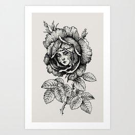 Sad Rose Art Print