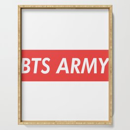 BTS ARMY red Serving Tray