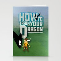 how to train your dragon Stationery Cards featuring HOW TO TRAIN YOUR DRAGON - Fantasy | Animation | Movie | Fantastic | Childer | Sci-fi by Gianluca Lucchese