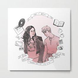 Rae + Finn Metal Print