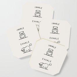 Inhale Exhale English Bulldog Coaster