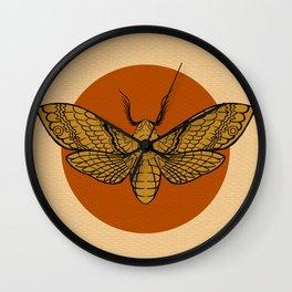 Vintage Death Head Moth Wall Clock