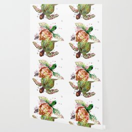 Turtles, Olive Green Cherry Colored Sea Turtles, turtle Wallpaper