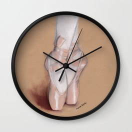 Ballet Pointe Shoes. Wall Clock