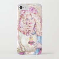 dolly parton iPhone & iPod Cases featuring Saint Dolly Parton  by DirtyLola