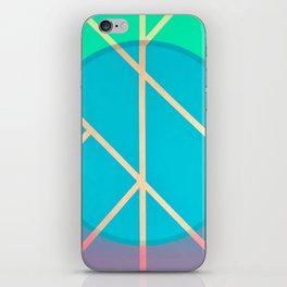 Leaf - circle color iPhone Skin