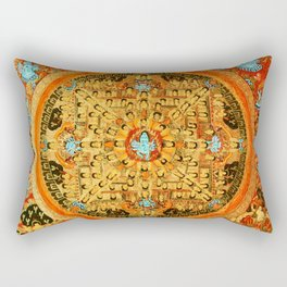 Buddhist Mandala Ashta Bhairava 1 Rectangular Pillow