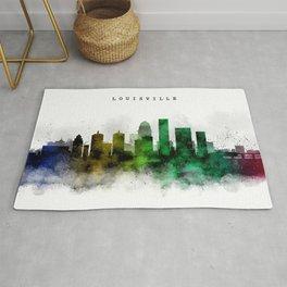 Louisville Watercolor Skyline Rug