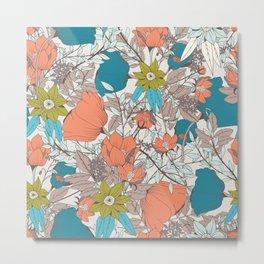 Botanical pattern 011 Metal Print