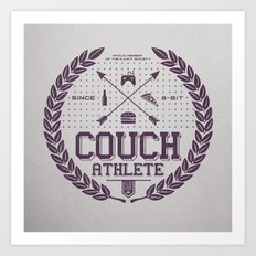 Couch Athlete Art Print