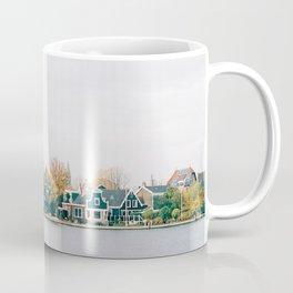 Cute Green Dutch houses at Zaanse Schans | Netherlands travel photography | Europe fine art Coffee Mug