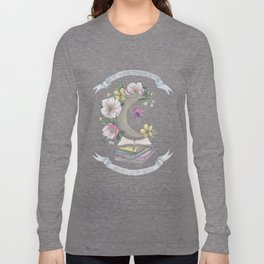 Freedom, Books, Flowers and The Moon Long Sleeve T-shirt