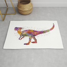 Dracorex dinosaur in watercolor Rug