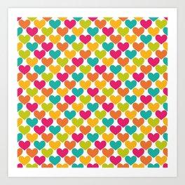 Lovely Hearts Art Print