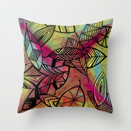 Crazy Leaves  Throw Pillow