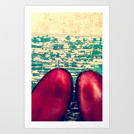 Red Boots and Possibilities Art Print