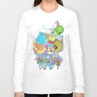 pixar Long Sleeve T-shirts featuring Disney Pixar Play Parade - Monsters Inc Unit by Joey Noble
