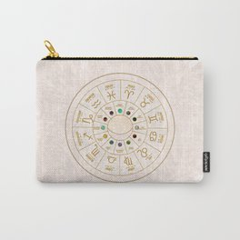 Birthstones and Astrological Signs Wheel Carry-All Pouch