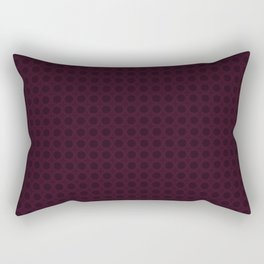 Dark Merlot Wine Circle Pattern Rectangular Pillow