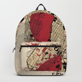 new york city map japanese style Backpack