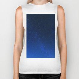 Blue Night Sky (Color) Biker Tank