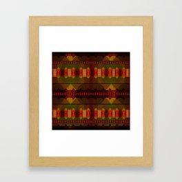 """""""Full Colors Tribal Pattern"""" Framed Art Print"""