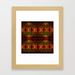 """Full Colors Tribal Pattern"" Framed Art Print"