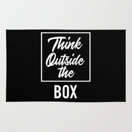 Think Outside the BOX | Art Saying Quotes Rug