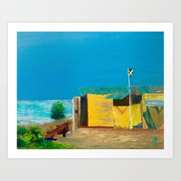 Jamaica. Jamaican Blues Art Print