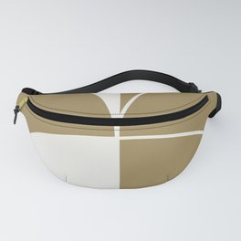 Diamond Series Round Solid Lines White on Gold Fanny Pack