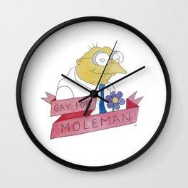 Moleman Wall Clock