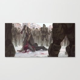 Russian Mob Boss Beats the Fuck Out of Some Guy Canvas Print