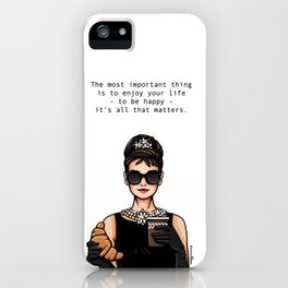 Audrey Hepburn Breakfast  iPhone Case