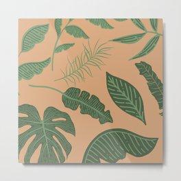 jungle plant collage Metal Print