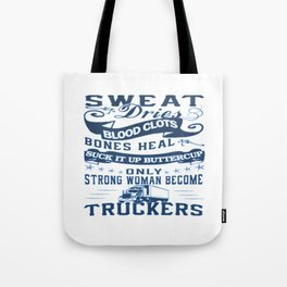 Trucker Woman Tote Bag