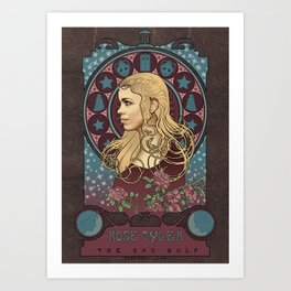 Rose Tyler art nouveau , Doctor Who , TARDIS Art Print
