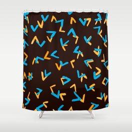 Chicken foot print brown pattern Shower Curtain