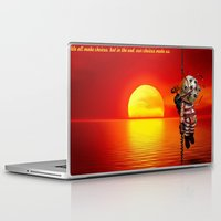 bioshock Laptop & iPad Skins featuring sunset bioshock by sgrunfo