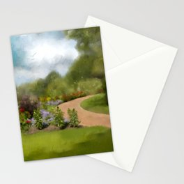 Down That Path Again Stationery Cards