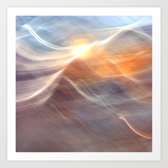Earth , Wind & Fire (abstract) Art Print