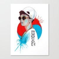 korea Canvas Prints featuring South Korea by Tunyon