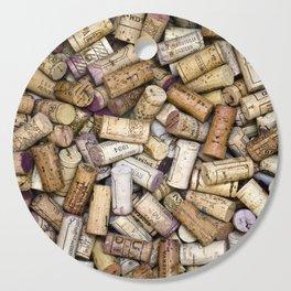 Fine Wine Corks Square Cutting Board