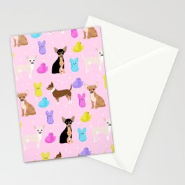 Chihuahua dog breed marshmallow peeps easter spring traditions cute dog breed gifts chihuahuas Stationery Cards