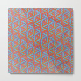 Isometric Hounds Tooth Metal Print